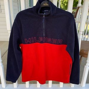 Vintage Tommy Hilfiger Fleece 1/4 Zip Sweater Sz M